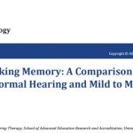 Student of the Master in Clinical Audiology and Hearing Therapy gets her Master´s Thesis published